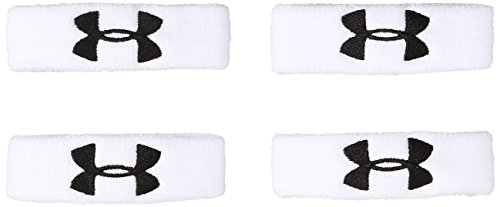 """Under Armour 1"""" Performance Wristband 4-Pack, White (100)/Black, One Size ()"""