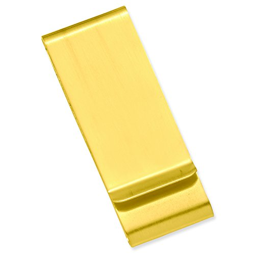 Solid br Gift Double Steel Waters Stainless GP3862 Engravable plated Double Steel sided Money Boxed Stainless Clip br Satin Gold Kelly Fold Gold plated Satin FqRnxO7