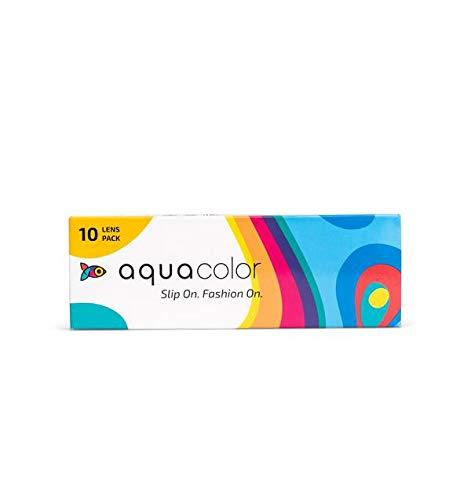 Aquacolor Daily Disposable Zero Power Color Contact Lenses (10 Plano Lens/Box) (Midnight Black)