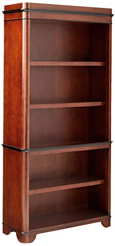 Martin Furniture Kensington 5 Shelf Bookcase, Fully Assembled, Brown