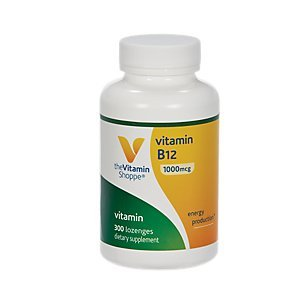 Vitamin B12 1,000mcg Supports Energy Production, Once Daily Dietary Supplement Vitamin B12 (As Cyanocobalamin), Gluten Dairy Free (300 Lozenges) by The Vitamin Shoppe