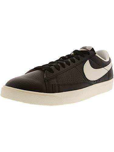 Nike Women's Blazer Low PRM Black/Ivory Sail Ankle-High Leather Fashion Sneaker - 8.5M