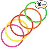 """Elife 10 pcs 5"""" Plastic Toss Rings for Speed and Agility Practice Games (10 pcs; 5"""")"""