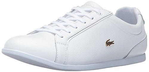 Lacoste Shoes Flat Womens (Lacoste Women's Rey Lace 317 1 Caw,White,8.5 M US)