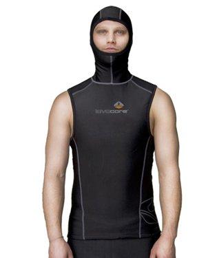 Hooded Sport Vest (Lavacore Mens Polytherm Multi-Sport Scuba Diving Hooded Vest Exposure Garment, XL)