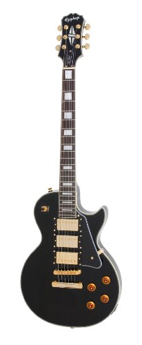 Epiphone Les Paul BLACK BEAUTY 3 Pickup Electric Guitar, Ebony