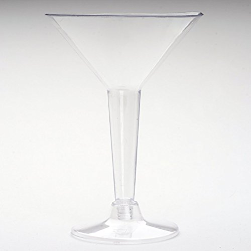 Efavormart 24 Pcs - Clear 5oz Disposable Martini Glass - Crystal Collection For Wedding party Catering Home -