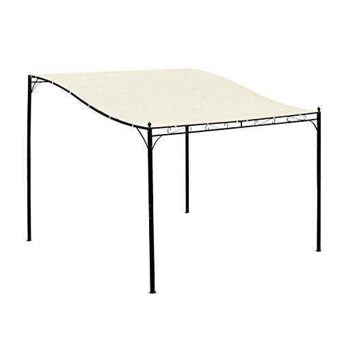 Outsunny 10' x 10' Outdoor Patio Canopy Gazebo - Cream White