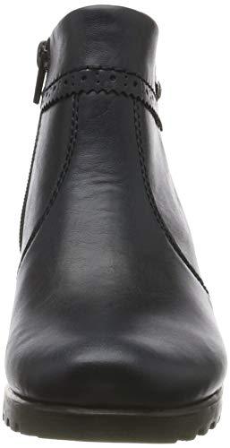 Rieker Damen Stiefeletten M8081, Frauen Ankle Boots, Stiefel halbstiefel Bootie knöchelhoch reißverschluss Damen Frauen,Navy / 14,37 EU / 4 UK 2