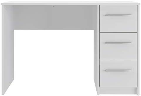 Marca Amazon -Movian Idro Modern - Escritorio con 3 cajones, 56 x 110 x 73,5 cm (blanco) 21