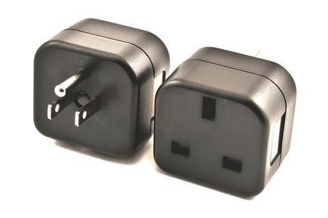 - VP-18 Plug Adapter For USA. Converts UK Plug to 3 Pin American Grounded Plug