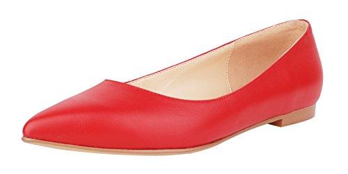 Pour Femme red A Queenfoot Leather Pump6002 Mocassins 7vnawqp6