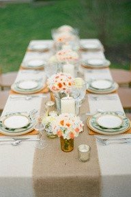 Merveilleux Burlap Table Runners: Rustic Weddings Or Events 60x12 Inch Jute Burlap  Table Runner For Country