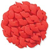 Valentine Red Lips Shapes Edible Sprinkles for Cakes, Cupcakes/Food Decorations 6 oz