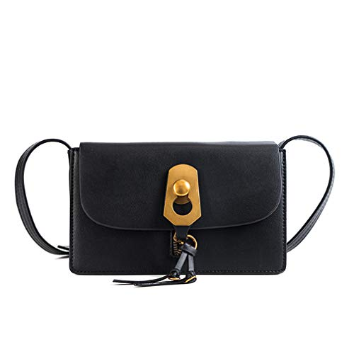 Bag Wild Bandolera Square Black W23h14d5 Lock Small Cm EqwAHvSUT