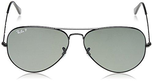 002 de unisex aviador Gafas Ban sol color 55 58 Ray talla talla alemana 6nEqw40xC