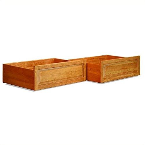 Atlantic Furniture Raised Panel Storage Drawers (Set of 2) - Twin/Full - Natural Maple