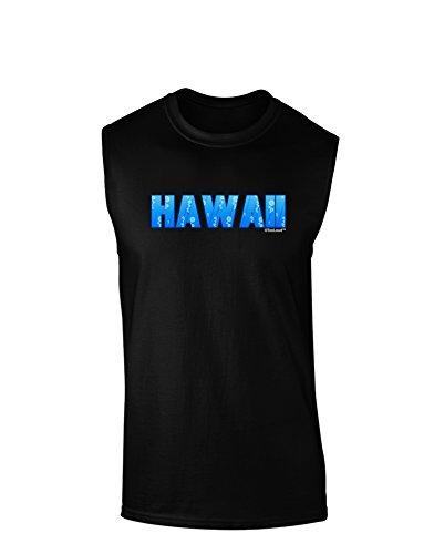 TooLoud Hawaii Ocean Bubbles Dark Muscle Shirt - Black - - Hawaii Black Coral