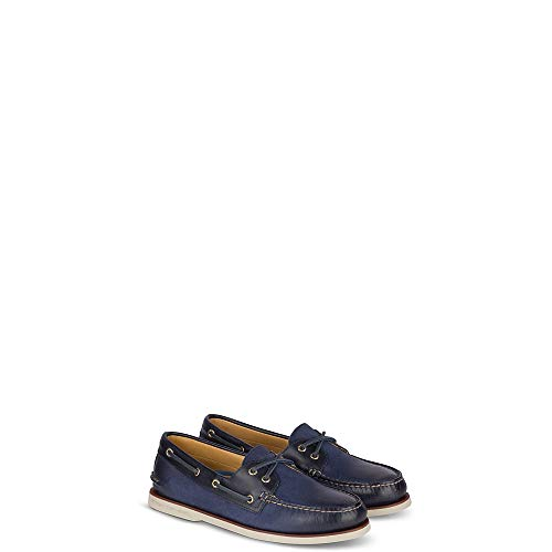 Sperry Blue Shoes - Sperry Top-Sider Gold Cup Authentic Original Rivingston Boat Shoe Men 10 Navy