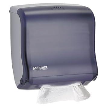 San Jamar T1755 Ultrafold Fusion Towel Dispenser, Fits 400 Multifold/240 C-Fold Towels, 11-1/2 Width x 11-1/2 Height x 6 Depth, Black Pearl T1755TBK