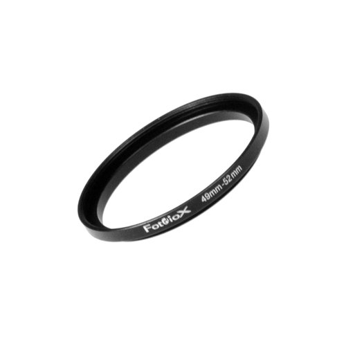 Fotodiox Metal Step Up Ring, Anodized Black Metal 49mm-52mm 49-52 mm ()
