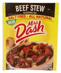 Mrs Dash Beef Stew Seasoning Mix 1.25 Oz (Pack of 2) - 2 Lb Beef
