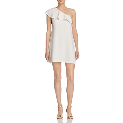 Dress Ella Cocktail One amp; Ruffled Womens Cooper Shoulder Ivory Brooke 8BxPw