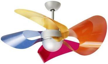 Ventilador de techo (1 focos Soffio pantalla color: amarillo ...