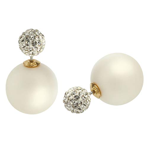- MISASHA Celebrity Designer Imitation Pearl Bowtie Studs Earrings