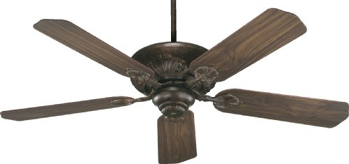 78525-88 Chateaux 5-Blade Energy Star Ceiling Fan with Reversible Blades, 52-Inch, Corsican Gold Finish by Quorum International