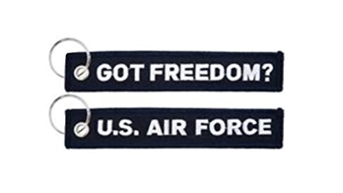 Embroidered Air Force Got Freedom? Keychain , 5.75 x 1, Navy Blue