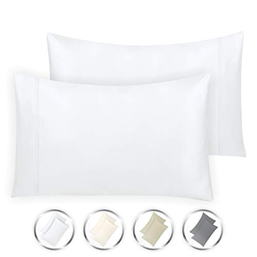 California Design Den Hotel Style True Luxury 100% Cotton 1000-Thread-Count King Size Solid Pure White (21