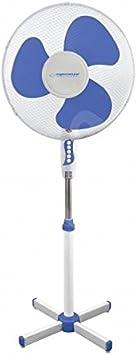 Esperanza ehf001wb Hurricane Ventilador de pie 50W, color blanco y azul