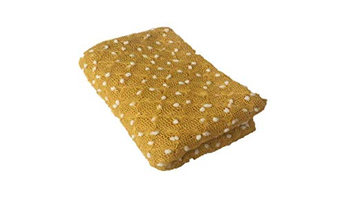 Newborn Baby Photography Prop Baby Girl/Boy Mohair Swaddle Wrap Blanket (Yellow)