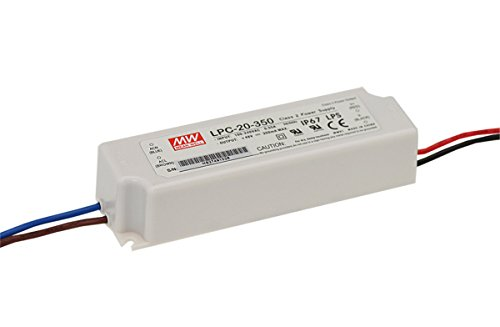 MW Mean Well LPC-20-350 48V 350mA 16.8W Single Output LED Switching Power Supply by MEAN WELL
