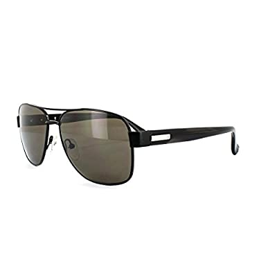 Calvin Klein Sunglasses 1204SRX 001 Black Brown