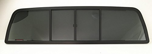 CRL Fits 1973-1979 Ford F-Series Pickup Super Duty F100 F150 F250 F350 F600 F700 F800 Rear Sliding Window Glass Back Slider 4 Panel
