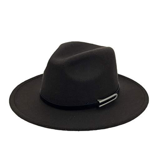 Wide Brim Autumn Trilby Caps Female Male Top Hat Jazz Cap Panama Hat Vintage Fedoras Men Mafia Hat Felt]()