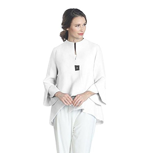 Used, IC Collection Trumpet Sleeve Jacket In Semi Sheer White for sale  Delivered anywhere in USA