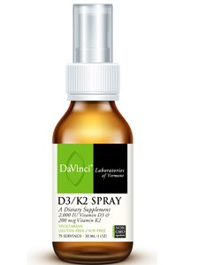 Davinci Labs Vitamin D3 K2 Spray 75 Metered Spray Immune / Bone by DaVinci Laboratories of Vermont