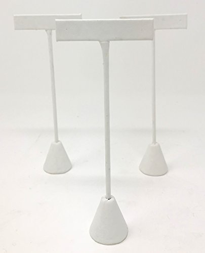 Bejeweled Display 3 White Faux Leather Earring T Stand Showcase Displays 6