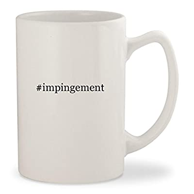 #impingement - White Hashtag 14oz Ceramic Statesman Coffee Mug Cup
