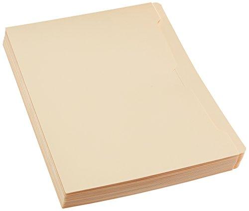 AmazonBasics File Jacket, Reinforced Straight-Cut Tab, Flat-No Expansion, Letter Size, Manila, 100-Pack Photo #2
