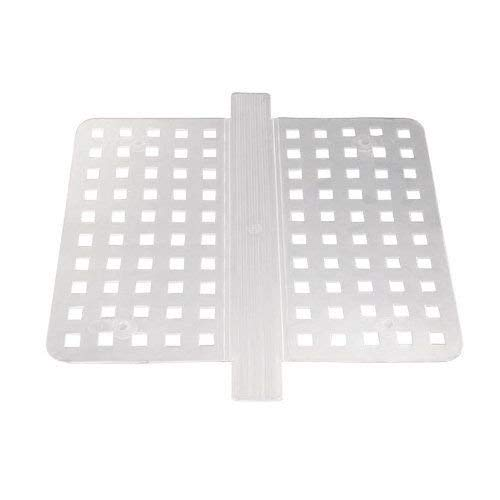 New Clear Kitchen Dish Safe Durable Grips Double Sink Saddle Divider Protector Mat ()