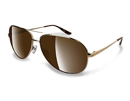 NEWPORT POLARIZED Sunglasses PCH Gold Metal Aviator / Polarized Amber - Newport Polarized Sunglasses