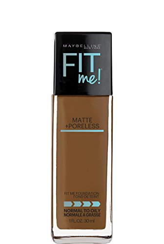 Maybelline Fit Me Matte + Poreless Liquid Foundation Makeup, Warm Coconut, 1 fl. - Skin Warm Tone