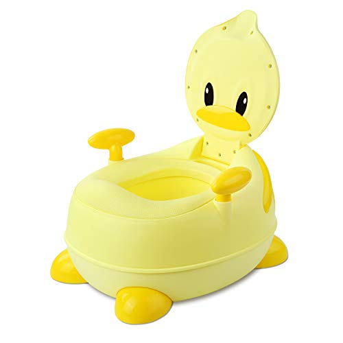 BAMNY Potty Training Toilet, Duck Toddler Toilet Trainer Chair with Soft Splash-proof Padded Training Seat for Children 1-7 Years Old - Potty Chair Trainer