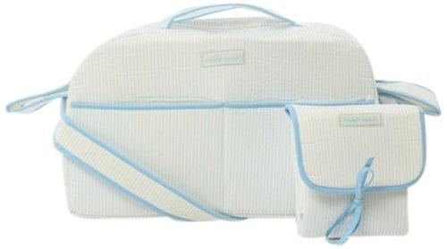 Naf-Naf 32050 - Bolso cambiador y alfombrilla cambiadora, 100% algodón, diseño de bordado de mariquita