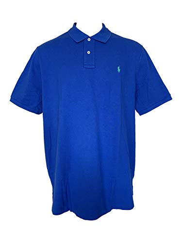 Ralph Lauren Classic Fit Mesh Polo (XX-Large, Blue/Green ()