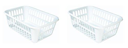 STERILITE Medium Plastic Basket White